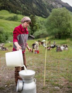 Eveline mit Ziegenmilch