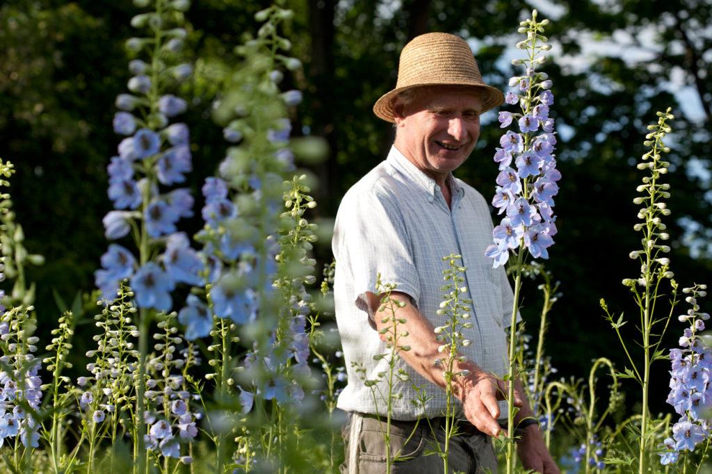Gärtner im Feld