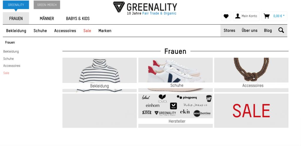 Der Onlineshop Greenality legt Wert auf Tranparenz