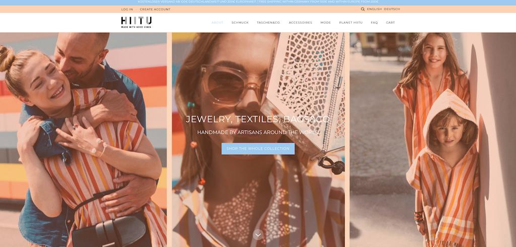 Der Webshop von dem nachhaltigen Label Hiitu