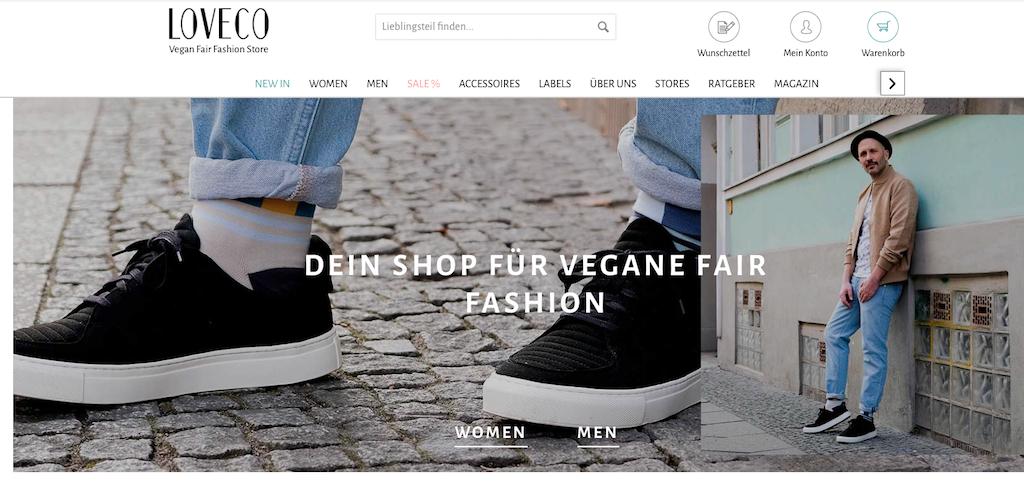Im Onlineshop von Loveco findet sich auch vegane Mode