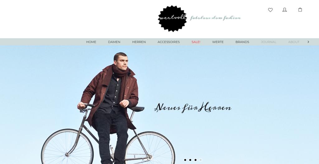 Online-Shops für faire Mode wie Wertvoll Berlin