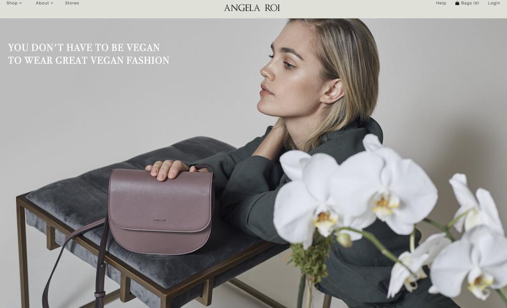 Die Website des nachhaltigen Taschenlabels Angela Roi
