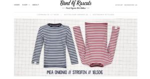 Die Website der nachhaltigen Marke für Kindermode Bands of Randals