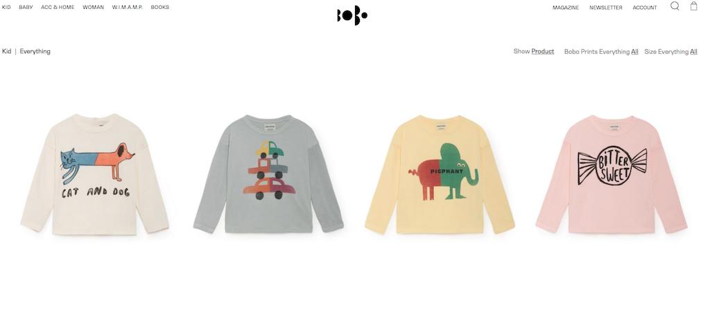 Auf der Website von Bobo Choses gibt es nachhaltige Mode für Kinder