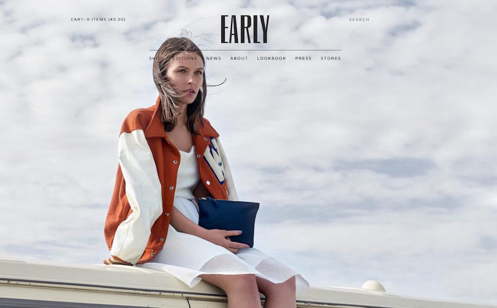 Die Website des deutschen Taschenherstellers Early