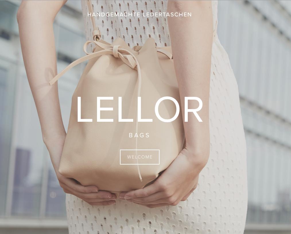 Die Website des Labels Lellor, das nachhaltige Handtaschen proudziert
