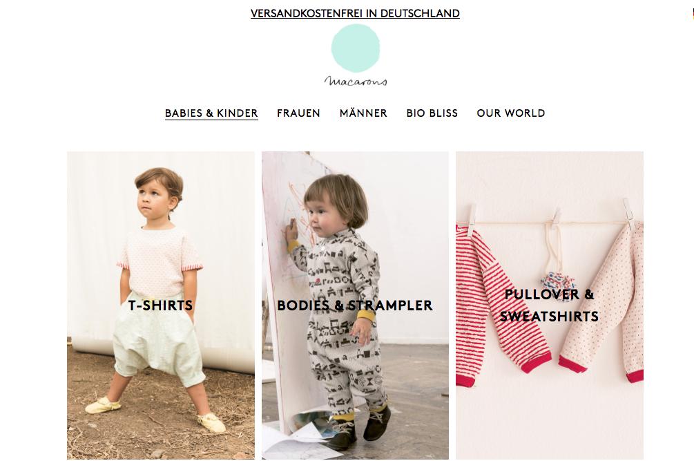 Bei dem Modelabel Macarons gibt es nachhaltige Kleidung für die ganze Familie