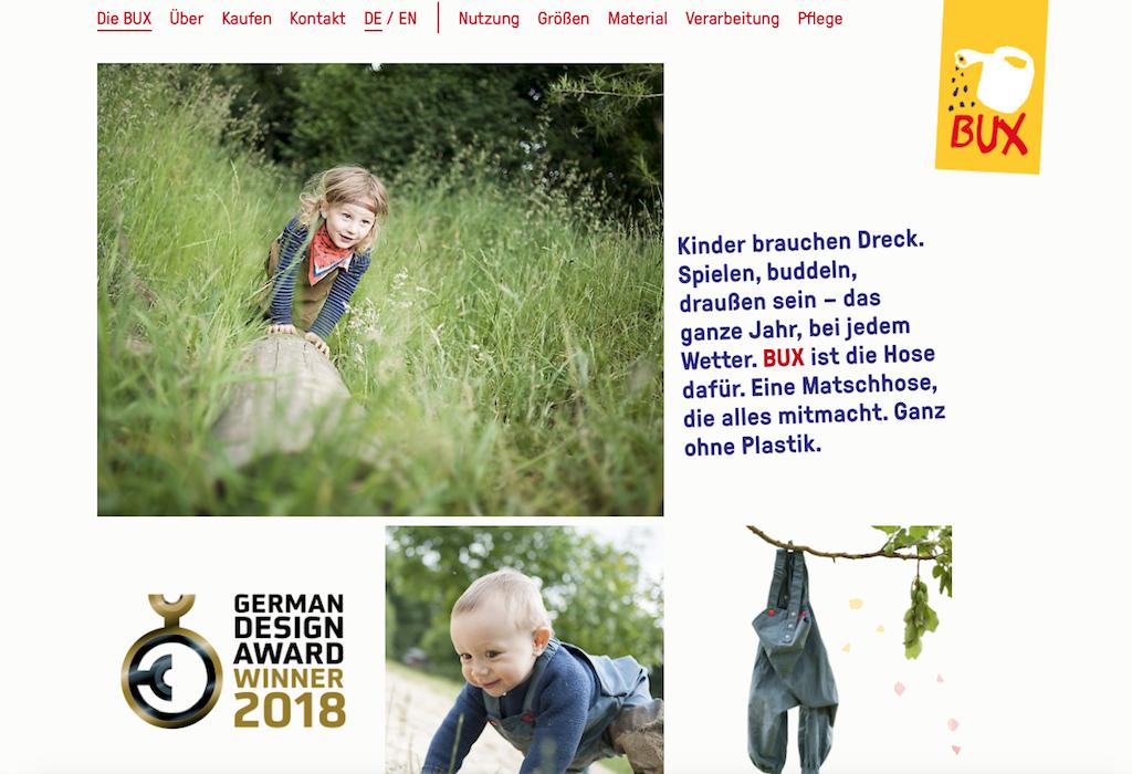 Nachhaltige Mode für Kinder auf der Website von Wind-Wetter-Zeug