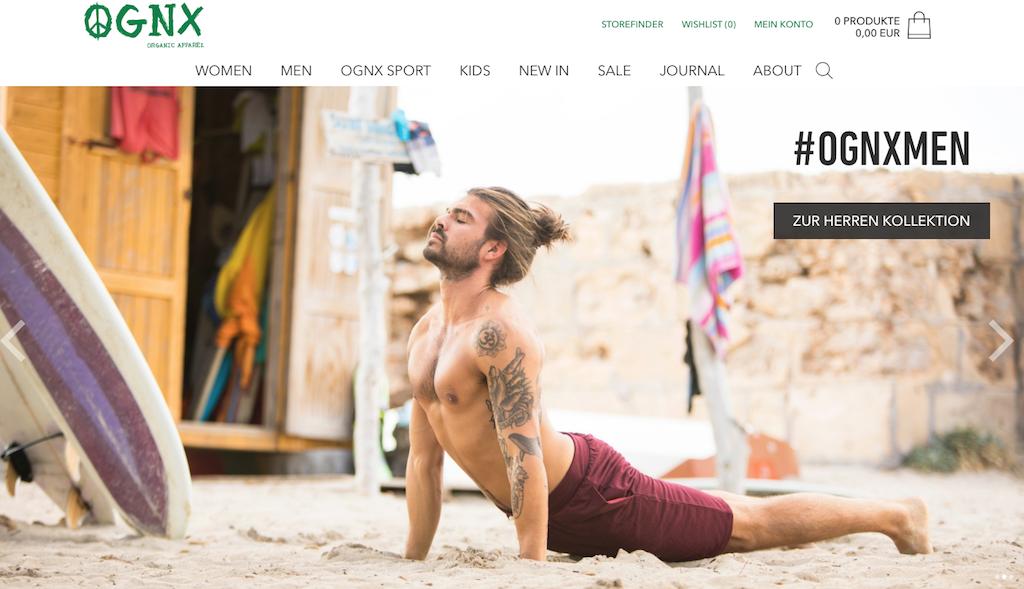 Bei OGNX findet sich auch grüne Yogawear für Männer