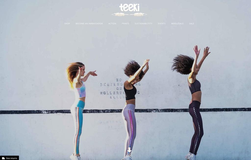 Das Lebel Teeki vertreibt nachhaltige Yogakleidung