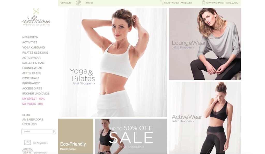 Nachhaltige Yogamode gibt es auch auf Wellicious