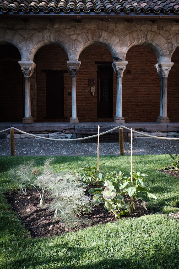 Ein kleiner Garten in der Stadt französischen Stadt Albi