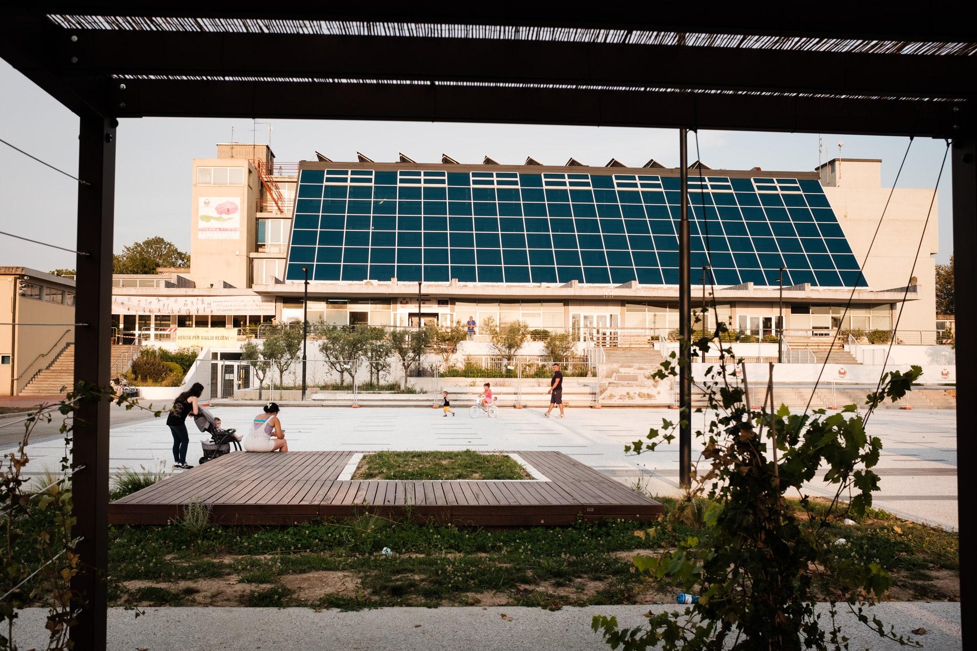 Solardach auf dem Rathaus