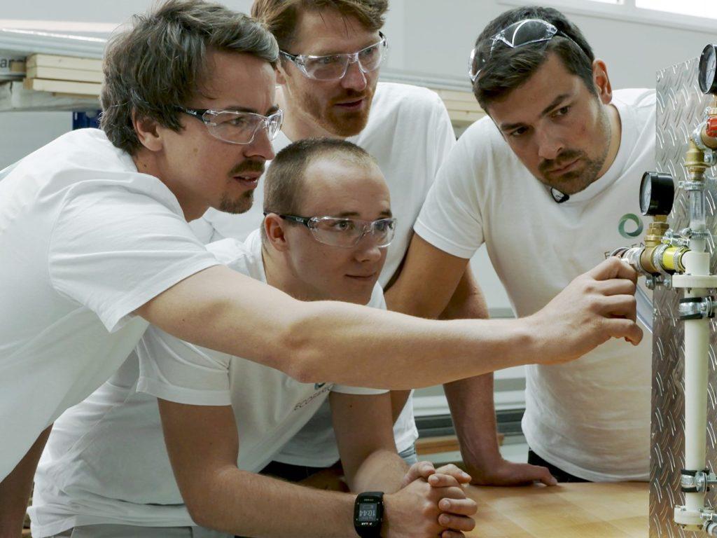 Das ganze Team von Eocfario forscht am Prototypen