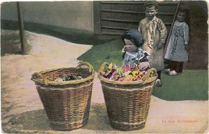 alte Postkarte Kinder